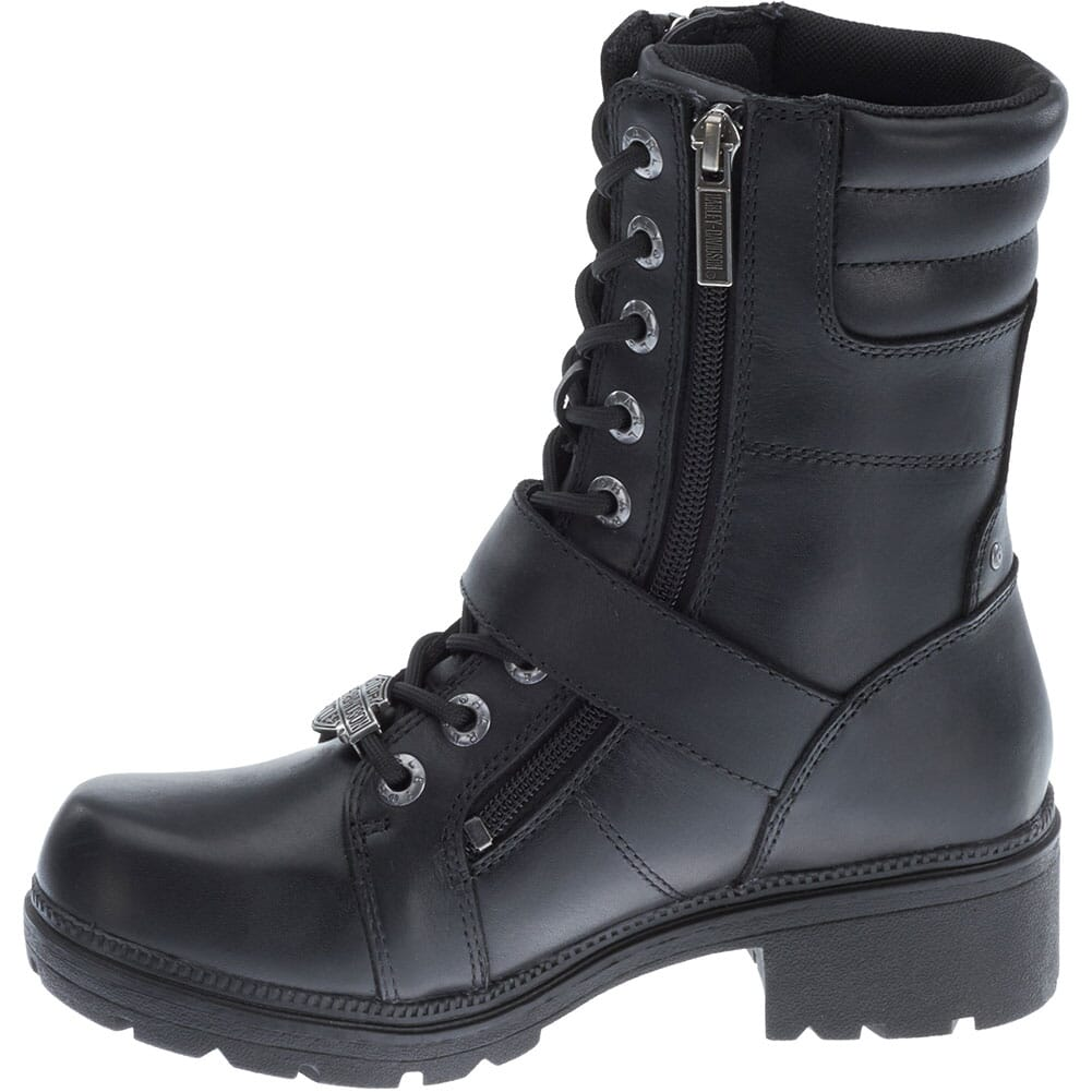 Harley Davidson Women's Talley Ridge Motorcycle Boots - Black