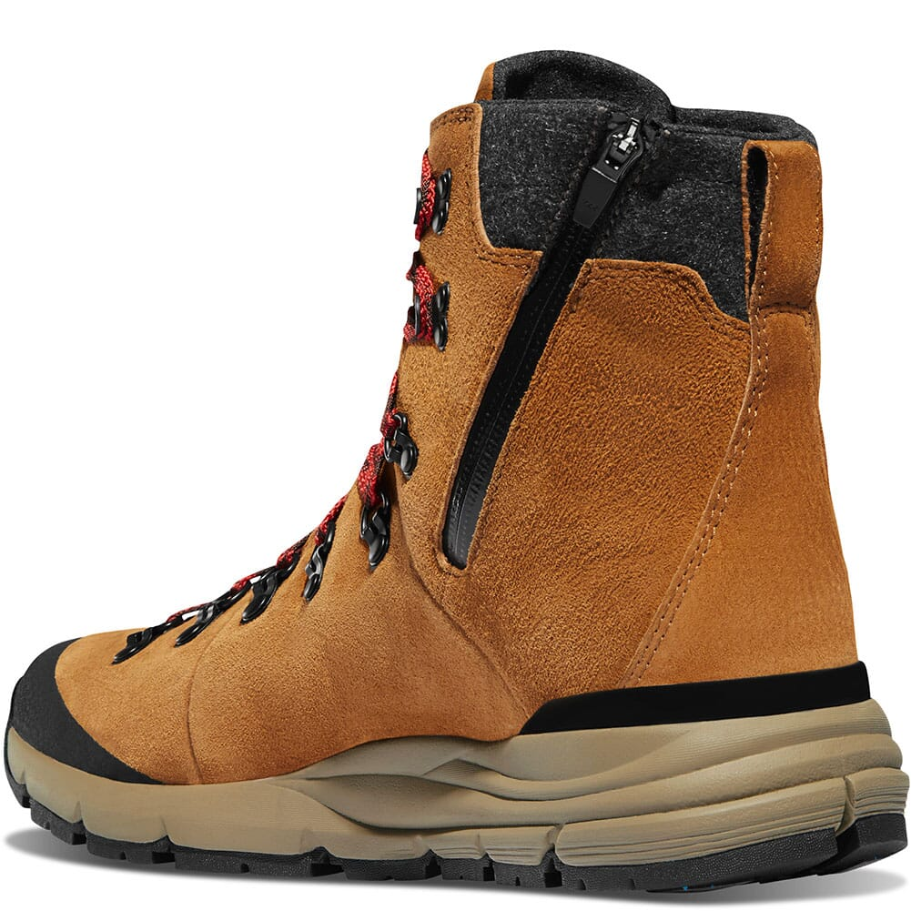 67330 Danner Men's Arctic 600 Side-Zip Hiking Boots - Brown/Red