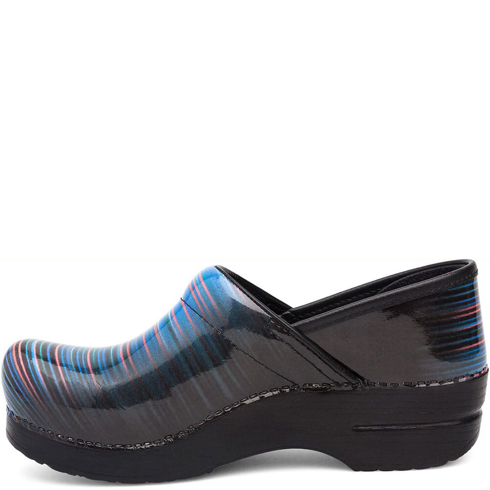 Dansko Women's Professional Clogs - Faded Stripe Patent