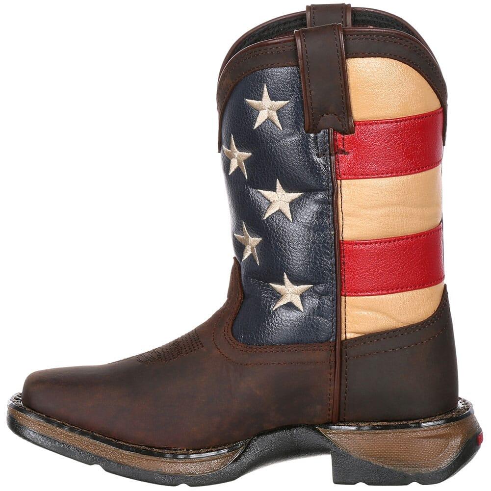 Lil' Durango Little Kids' Flag Western Boots - Brown