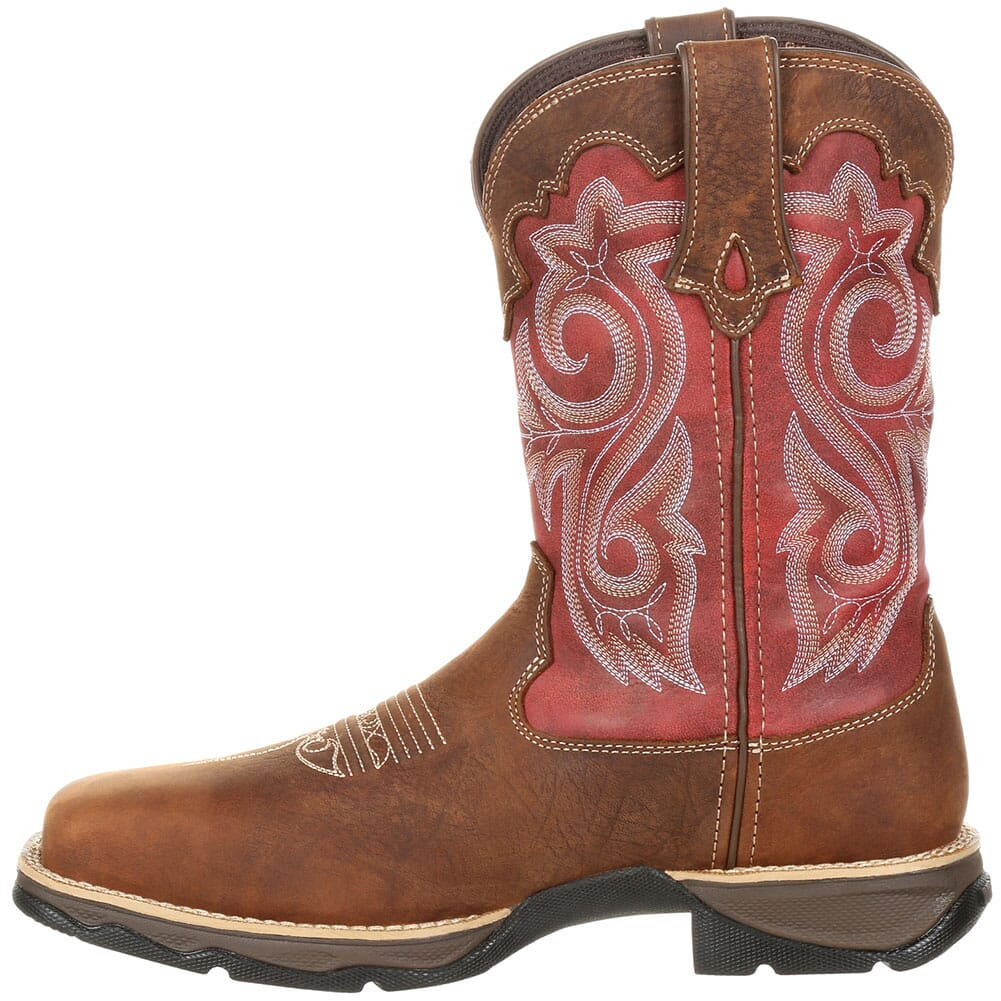 DRD0220 Durango Women's Lady Rebel WP Safety Boots - Briar Brown/Rusty Red