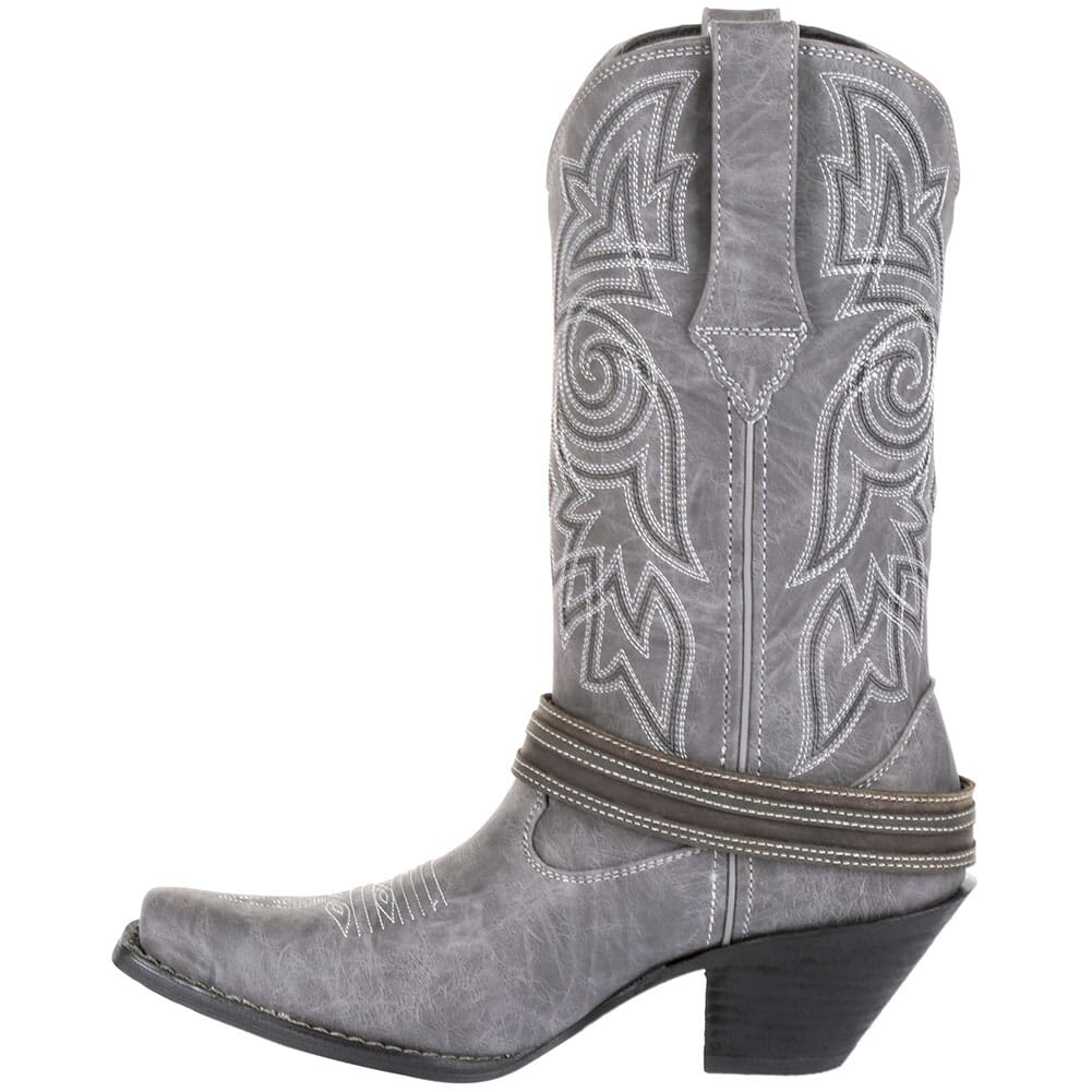 DRD0329 Durango Women's Crush Flag Western Boots - Distressed Graphite