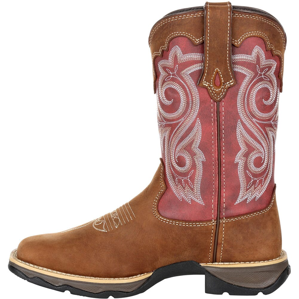 DRD0349 Durango Women's Lady Rebel Western Boots - Briar Brown/Rusty Red