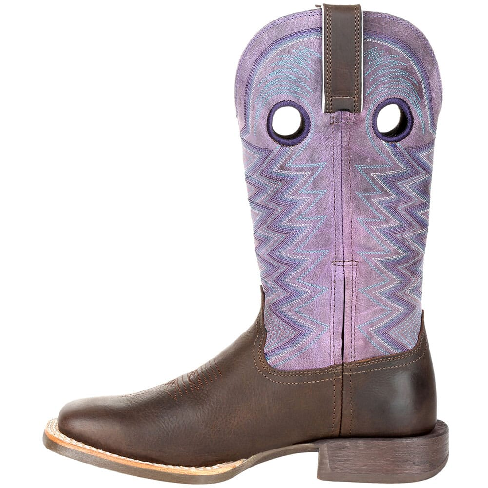 DRD0354 Durango Women's Lady Rebel Pro Western Boots - Dark Earth/Amethyst