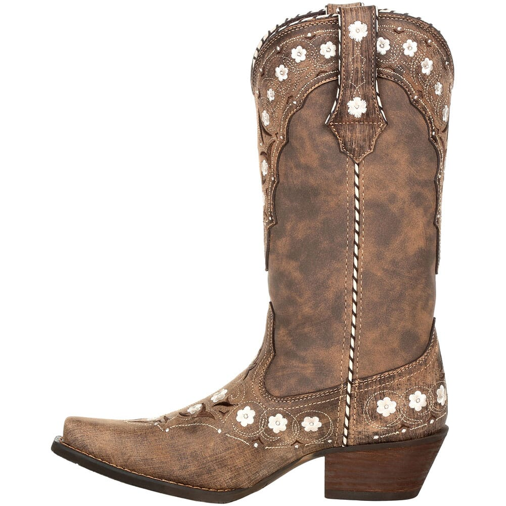 DRD0362 Durango Women's Crush Floral Western Boots - Driftwood