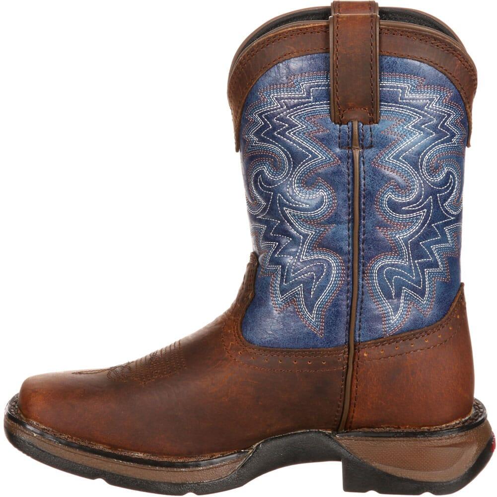 DWBT052 Lil' Durango Little Kid Western Boots - Dark Brown/Blue