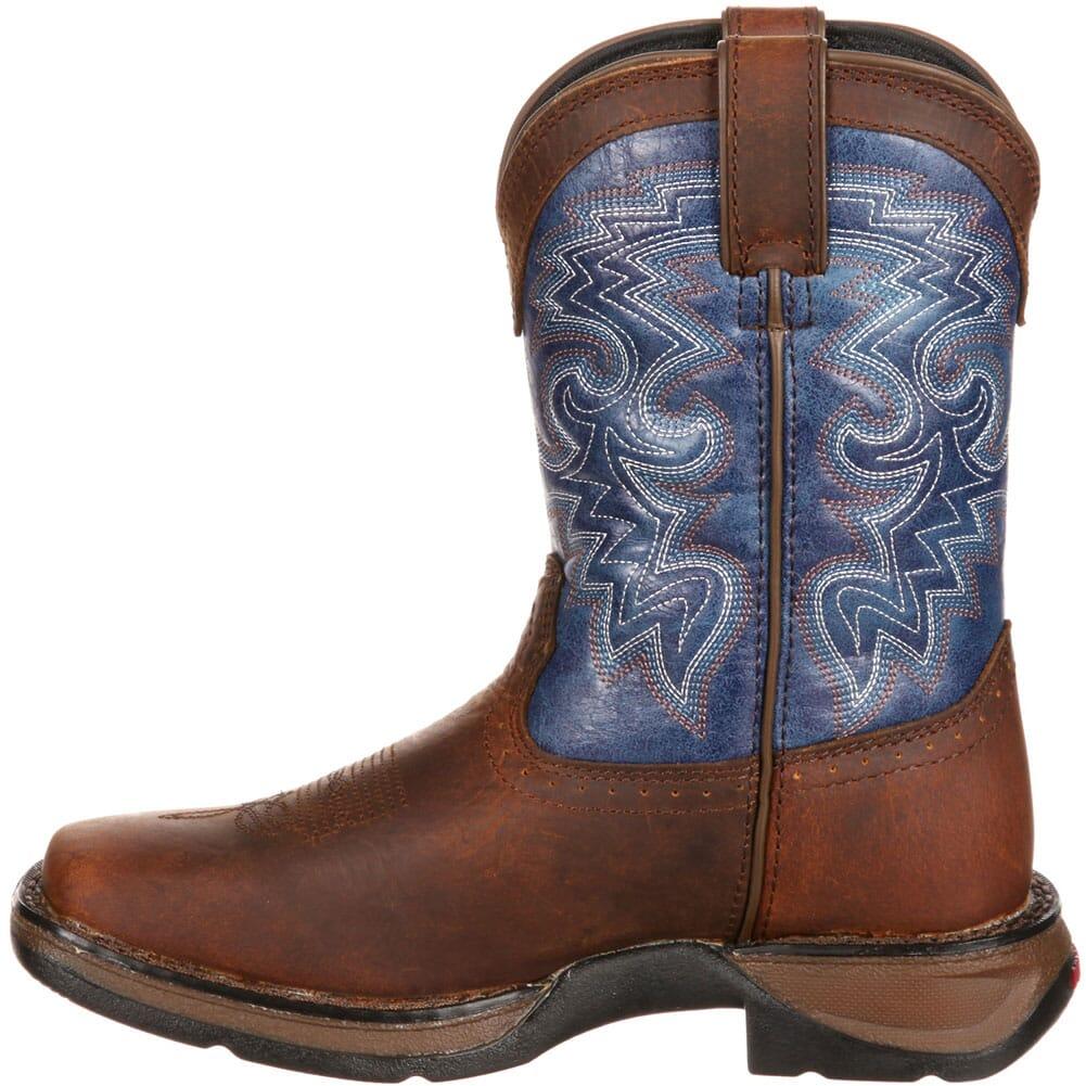 DWBT053 Lil' Durango Big Kid Western Boots - Dark Brown/Blue