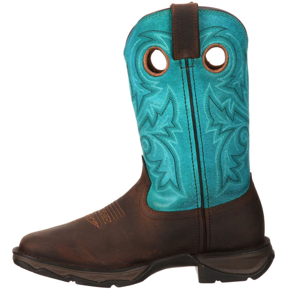 Durango Women's Lady Rebel Bar None Western Boots - Brown/Turquoise