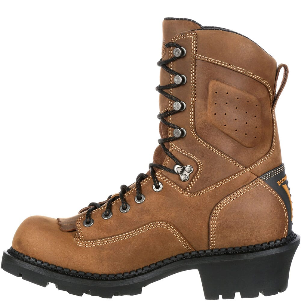 Georgia Men's Comfort Core Safety Loggers - Brown