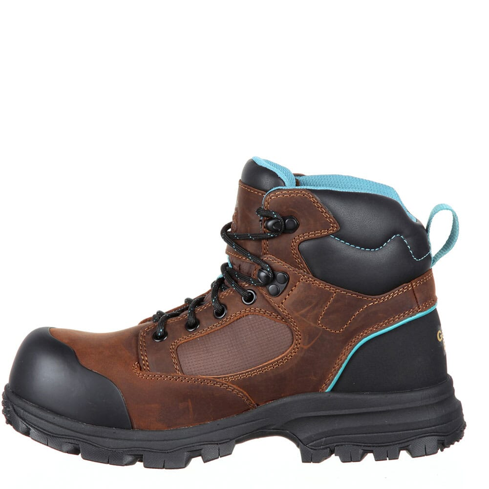 Georgia Women's Blue Collar WP Safety Boots - Dark Brown
