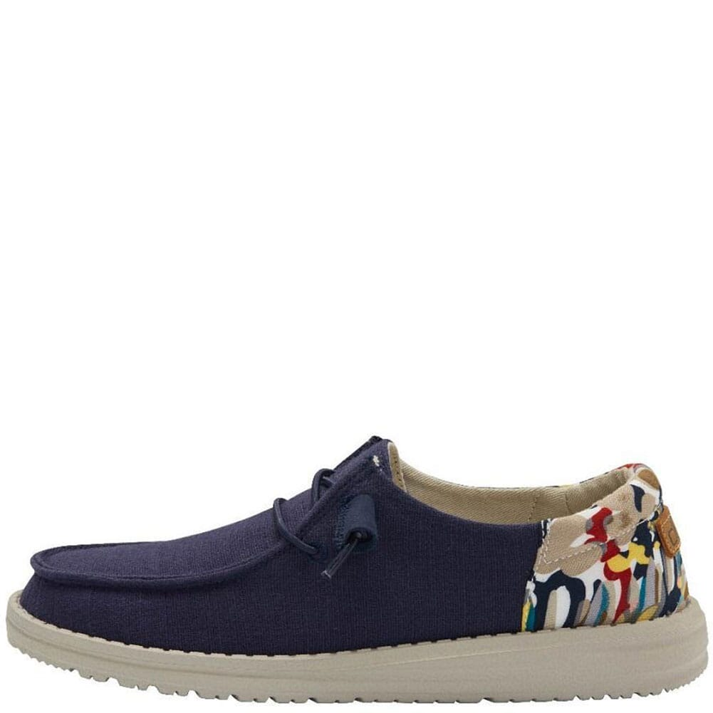 121932524 Hey Dude Women's Wendy Funk Wool Casual Shoes - Chambray Navy