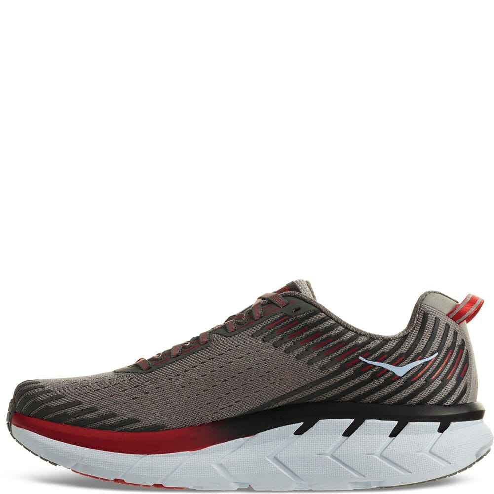 Hoka One One Men's Clifton 5 Running Shoes -  Alloy/Steel Gray