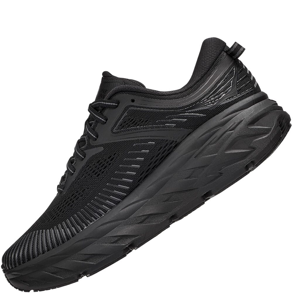 1110519-BBLC Hoka One One Women's Bondi 7 Athletic Shoes - Black/Black