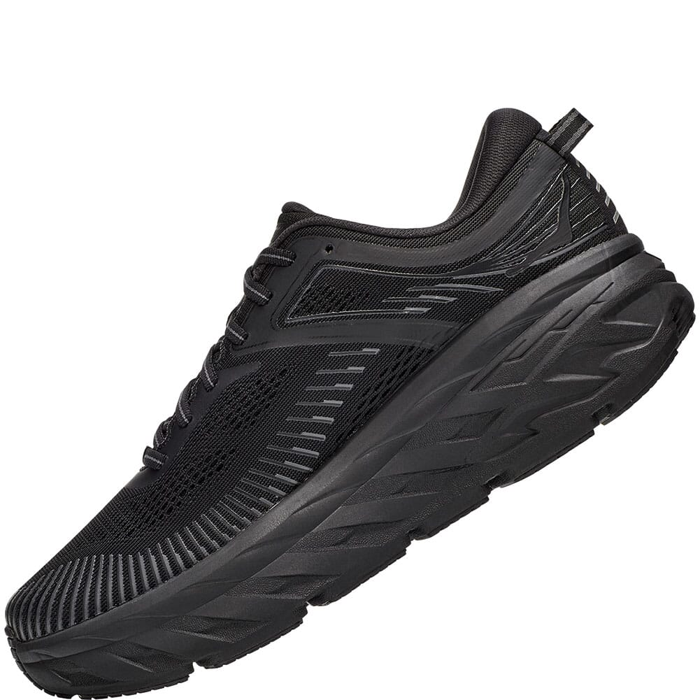 1110531-BBLC Hoka One One Women's Bondi 7 Wide Athletic Shoes - Black