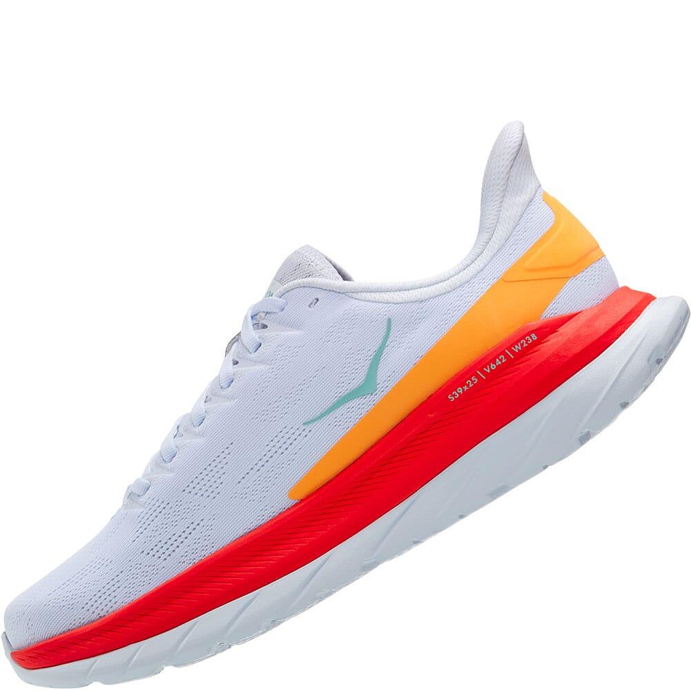 1113528-WFS Hoka One One Men's Mach 4 Wide Running Shoes - White