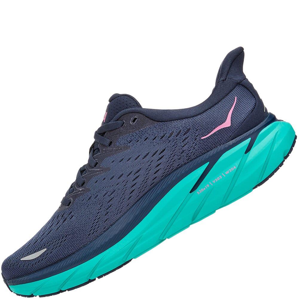 119394-OSAT Hoka One One Women's Clifton 8 Athletic Shoes - Atlantis