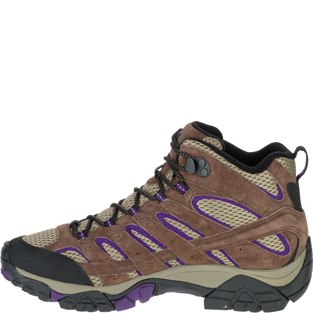 Merrell Women's Moab 2 Mid Ventilator Wide WHiking Boots - Bracken/Purpl