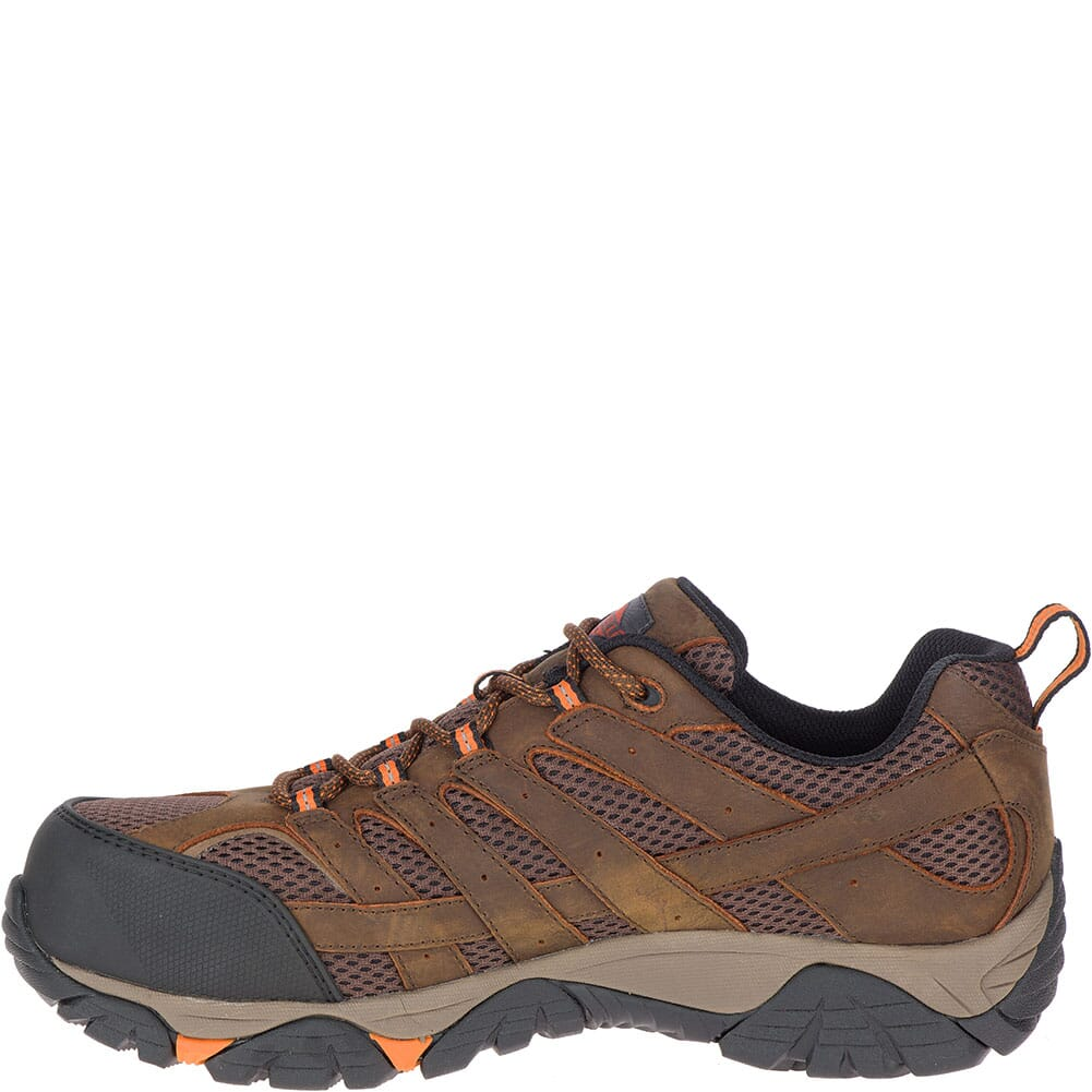 Merrell Men's Moab Vertex Vent Safety Shoes - Clay
