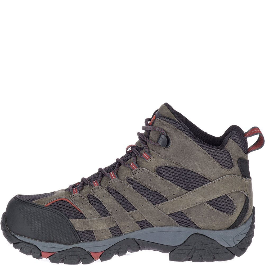 Merrell Men's Moab Vertex Vent Wide Safety Boots - Pewter