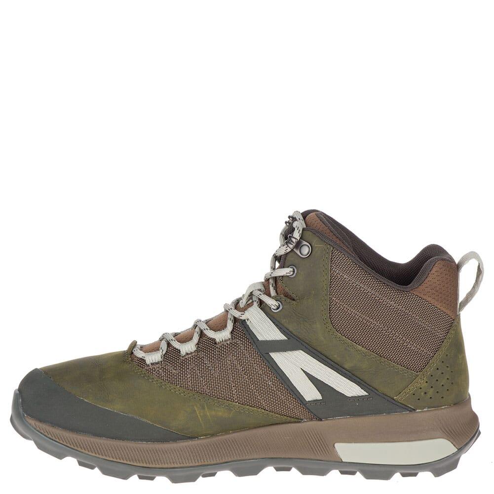 Merrell Men's Zion Mid WP Hiking Boots - Dark Olive