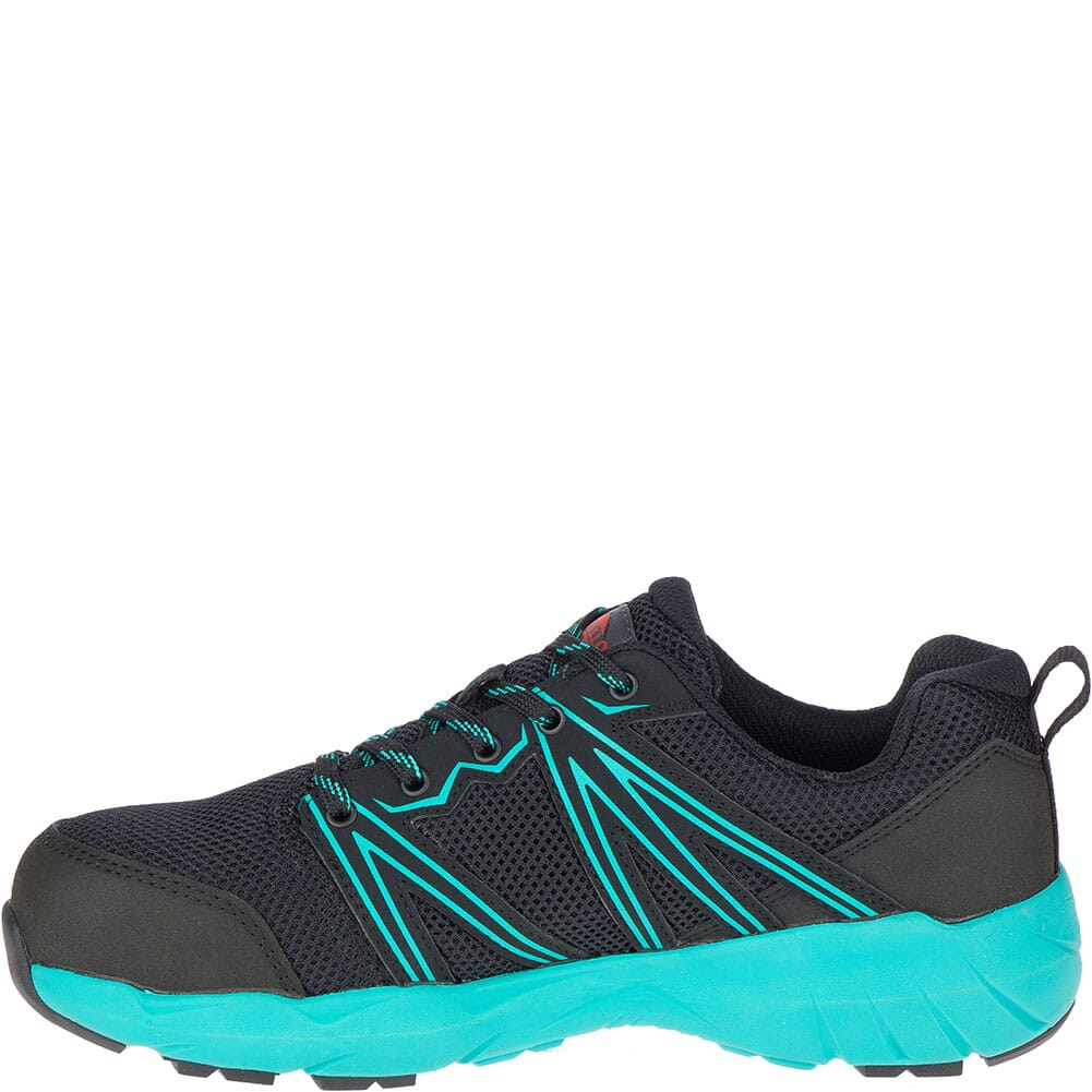 Merrell Women's Fullbench Superlite Safety Shoes - Black/Teal