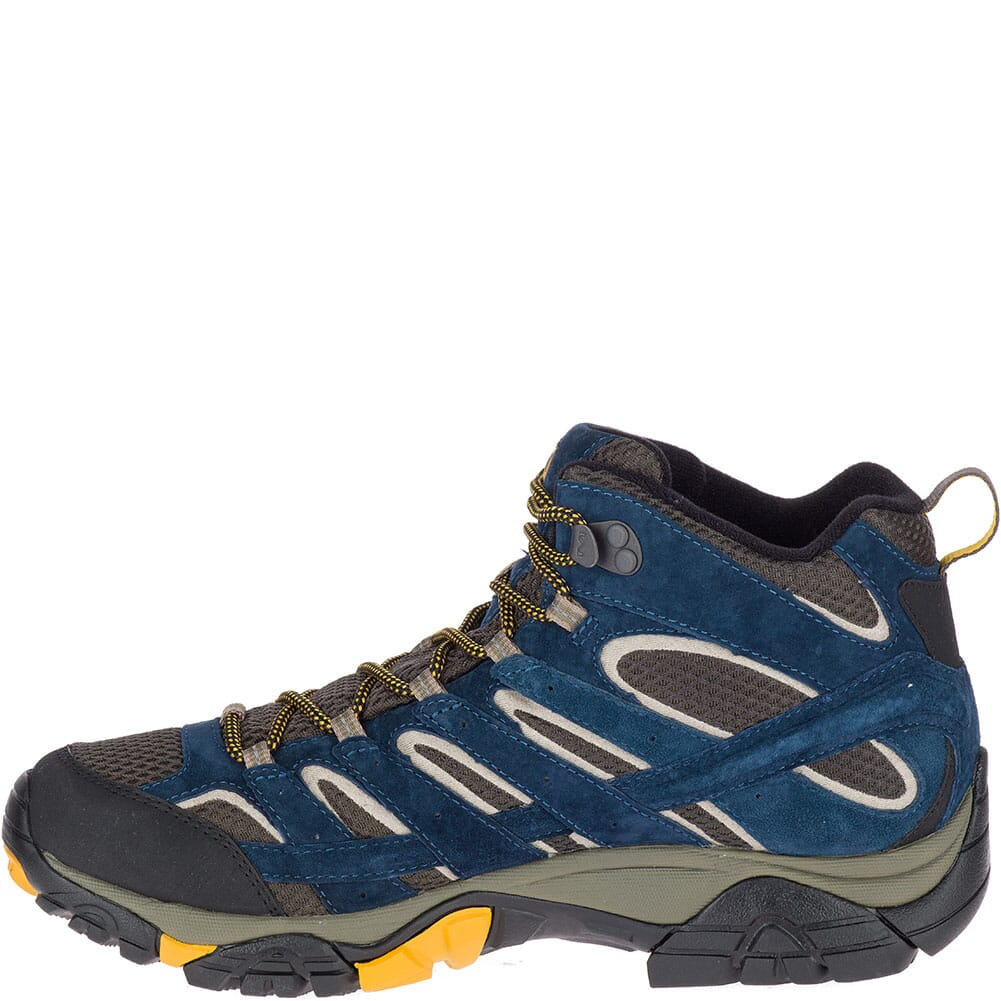 Merrell Men's Moab 2 Mid WP Hiking Boots - Olive/Blue