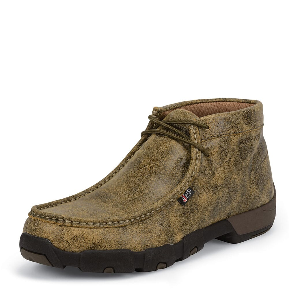 Justin Original Men's Cappie Safety Boots - Tan Bomber