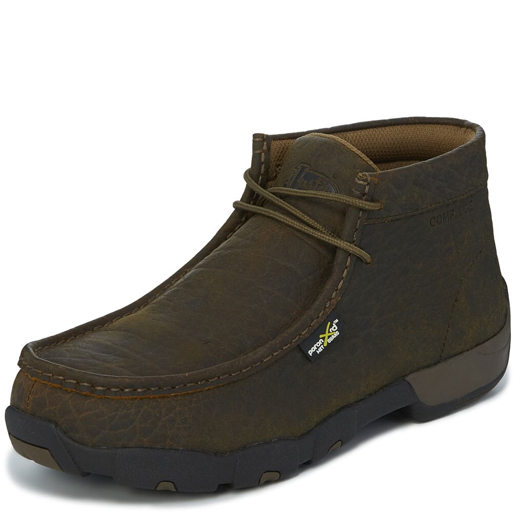 Justin Original Men's Cappie Met Safety Boots - Mahogany