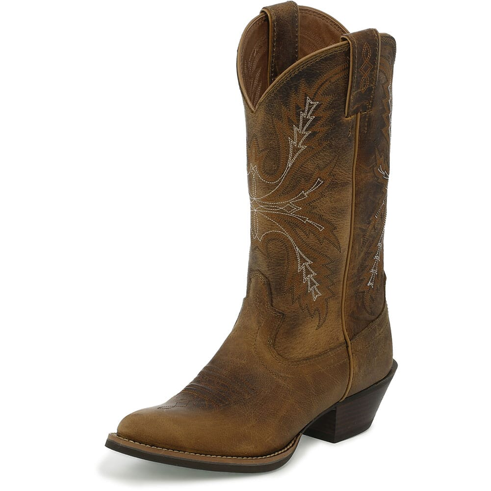 Justin Women's Quinlan Western Boots - Tan