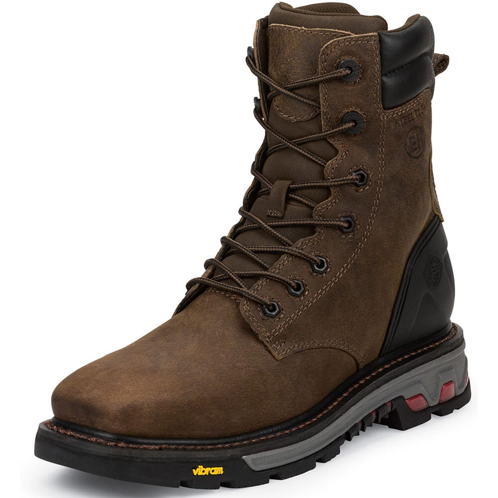 Justin Original Men's Pipefitter Safety Boots - Tobacco