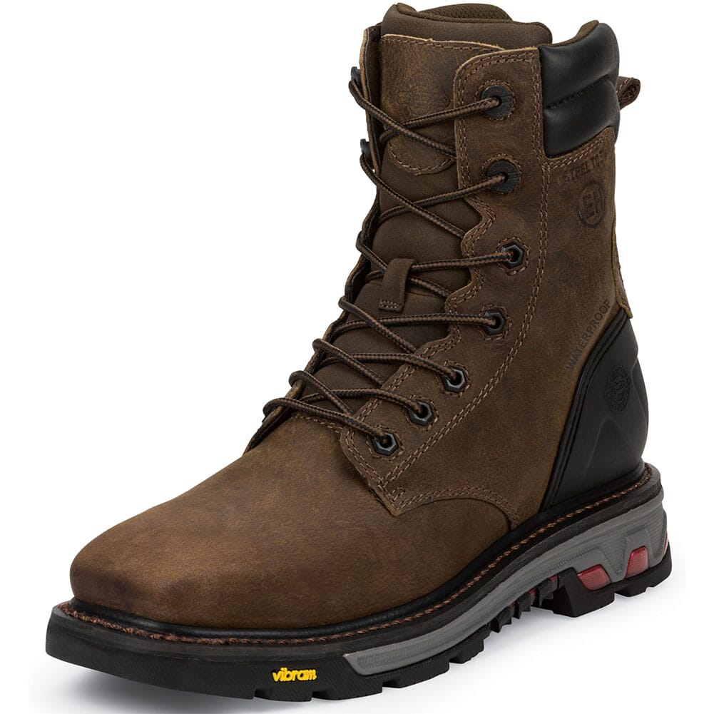 Justin Men's Commander-X5 WP Safety Boots - Tobacco
