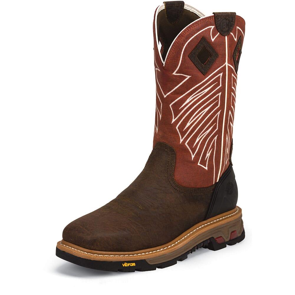 Justin Original Men's Roughneck Safety Boots - Chestnut