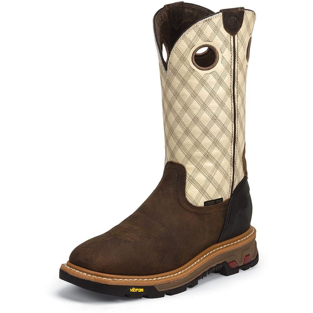 Justin Original Men's Roughneck Safety Boots - Bone/Tan