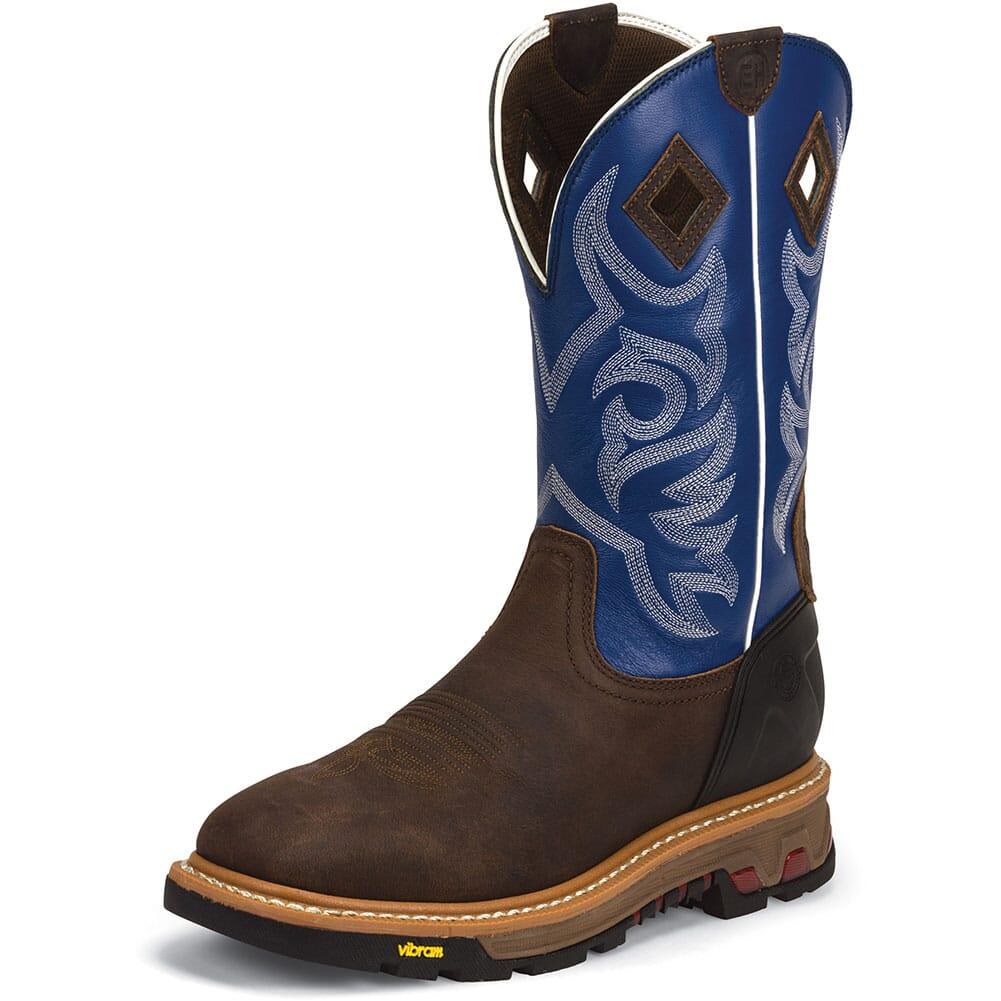 Justin Original Men's Roughneck Work Boots - Blue/Brown