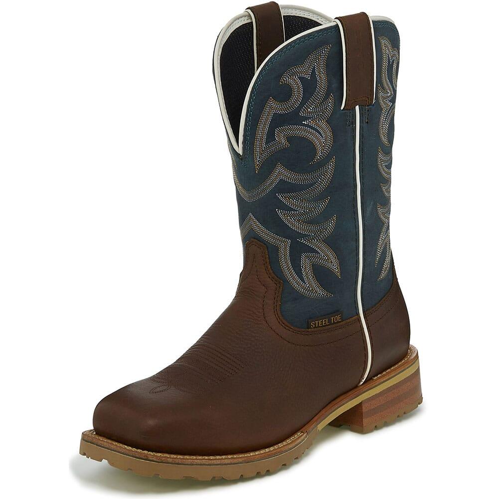 Justin Original Marshal Safety Boots - Reef Blue