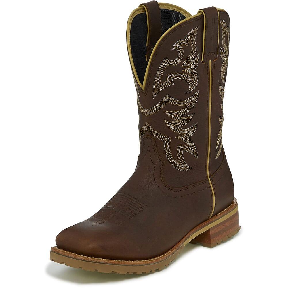 Justin Original Men's Marshal Whiskey WP Work Boots - Neat Brown