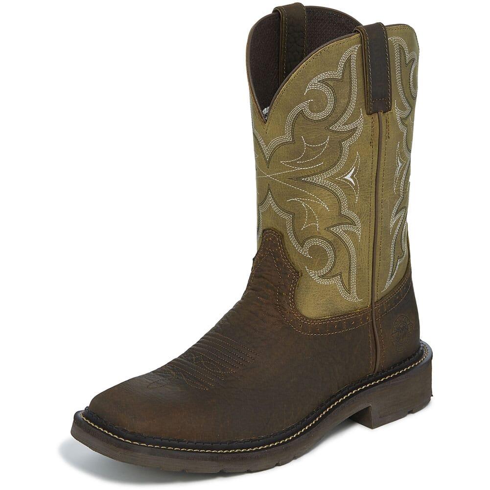 Justin Original Men's Amarillo Work Boots - Cactus