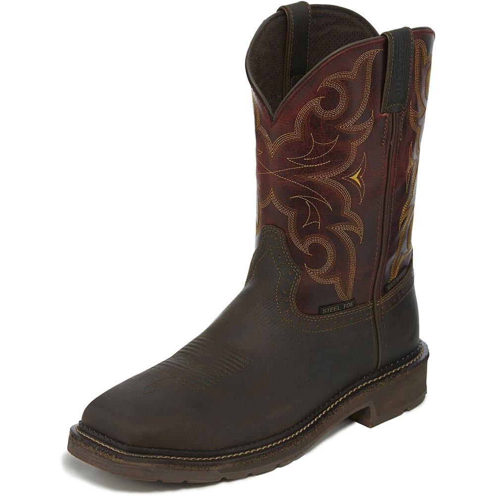 Justin Original Men's Amarillo WP Safety Boots - Oxblood