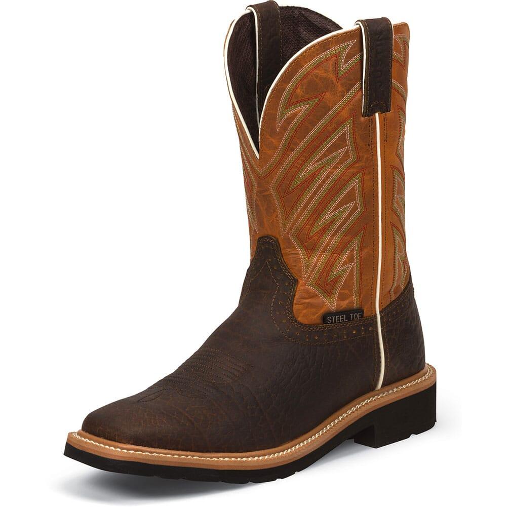 Justin Original Men's Electrician Safety Boots - Dark Chestnut