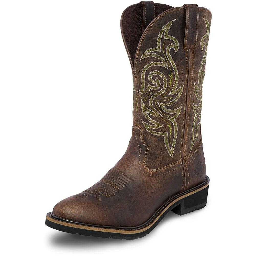 Justin Original Men's Teague Work Boots - Dark Brown