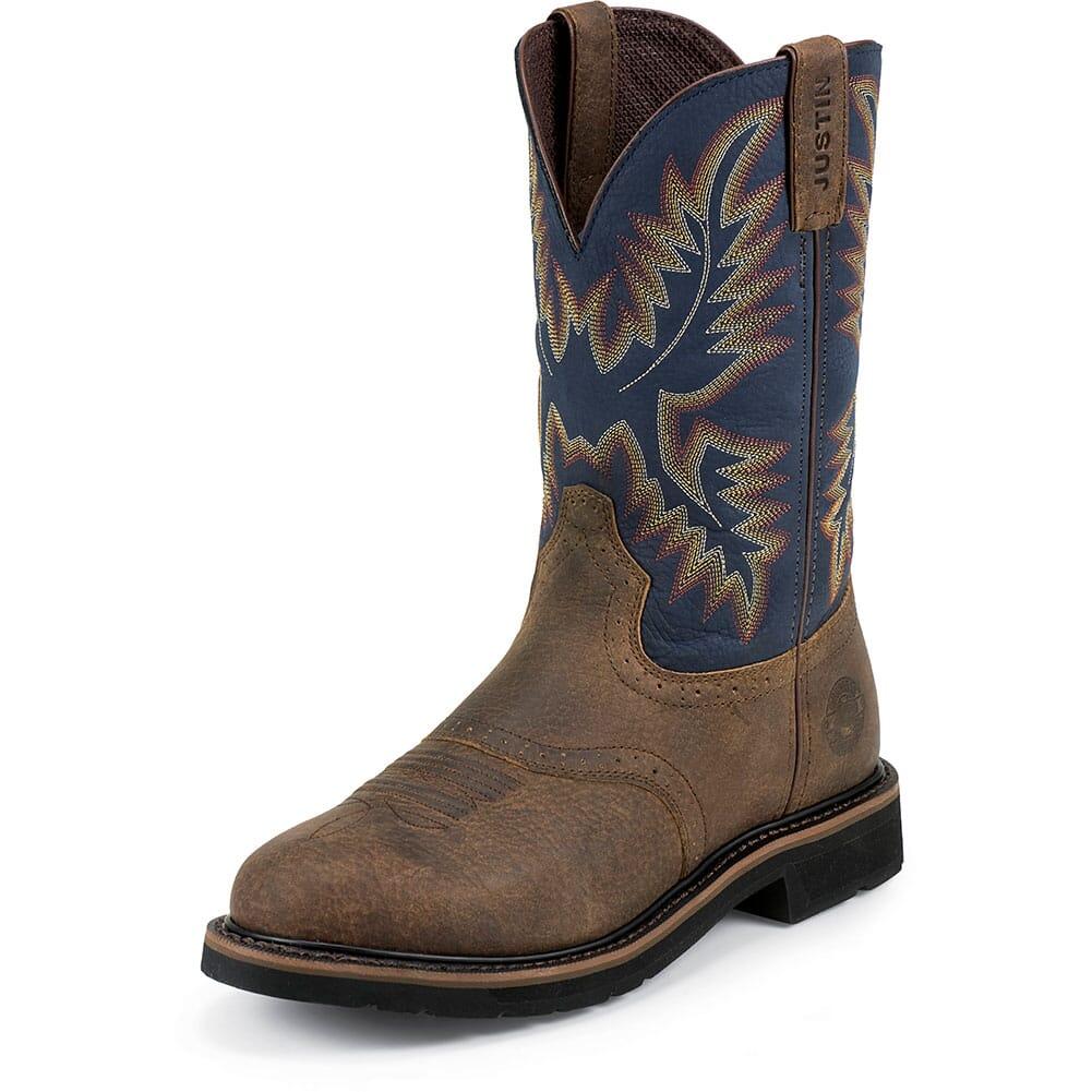 Justin Original Men's Superintendent Work Boots - Blue/Brown