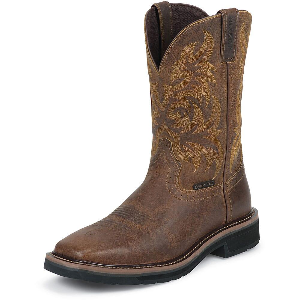Justin Original Men's Handler Safety Boots - Tan