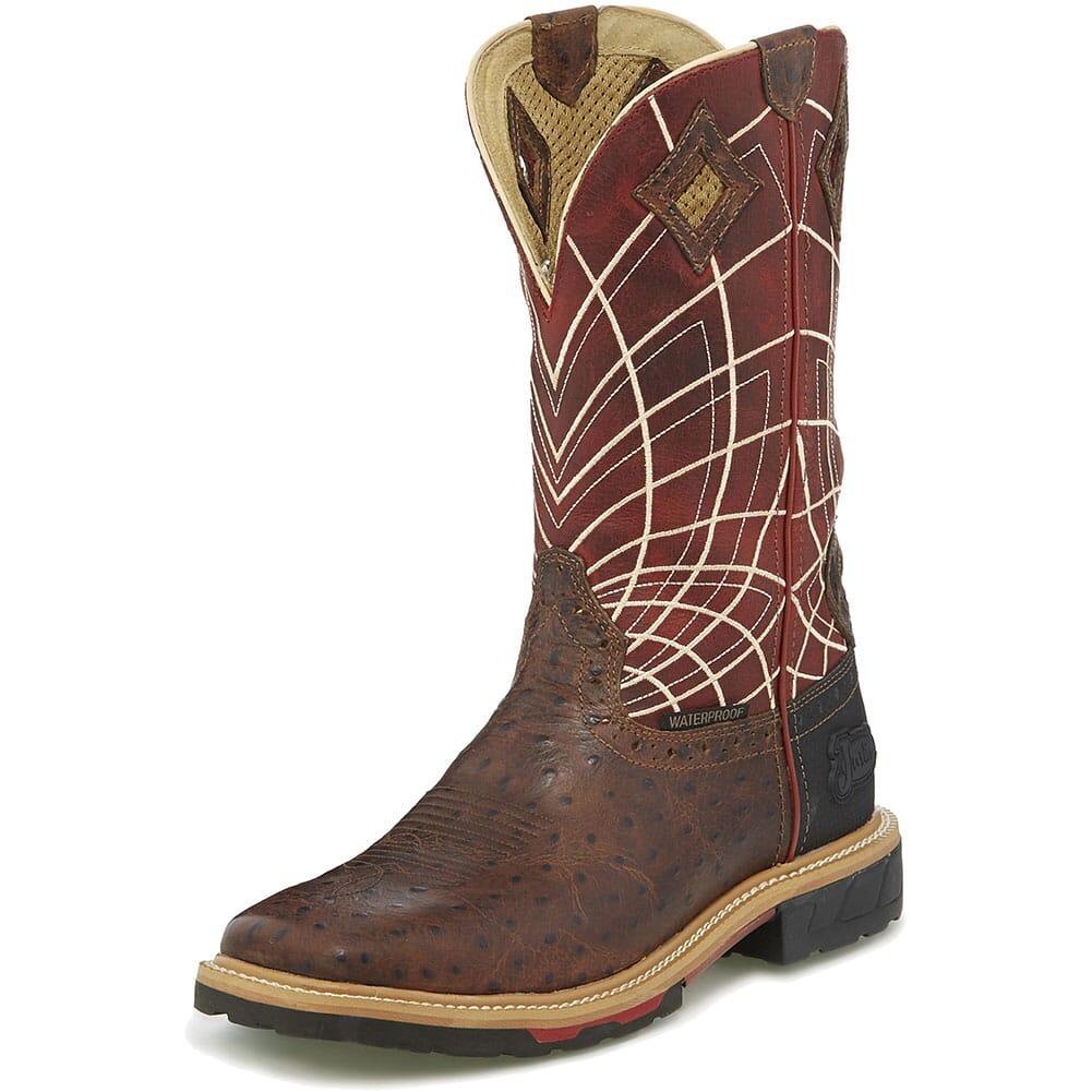 Justin Original Men's Derrickman Work Boots - Burgundy/Rust
