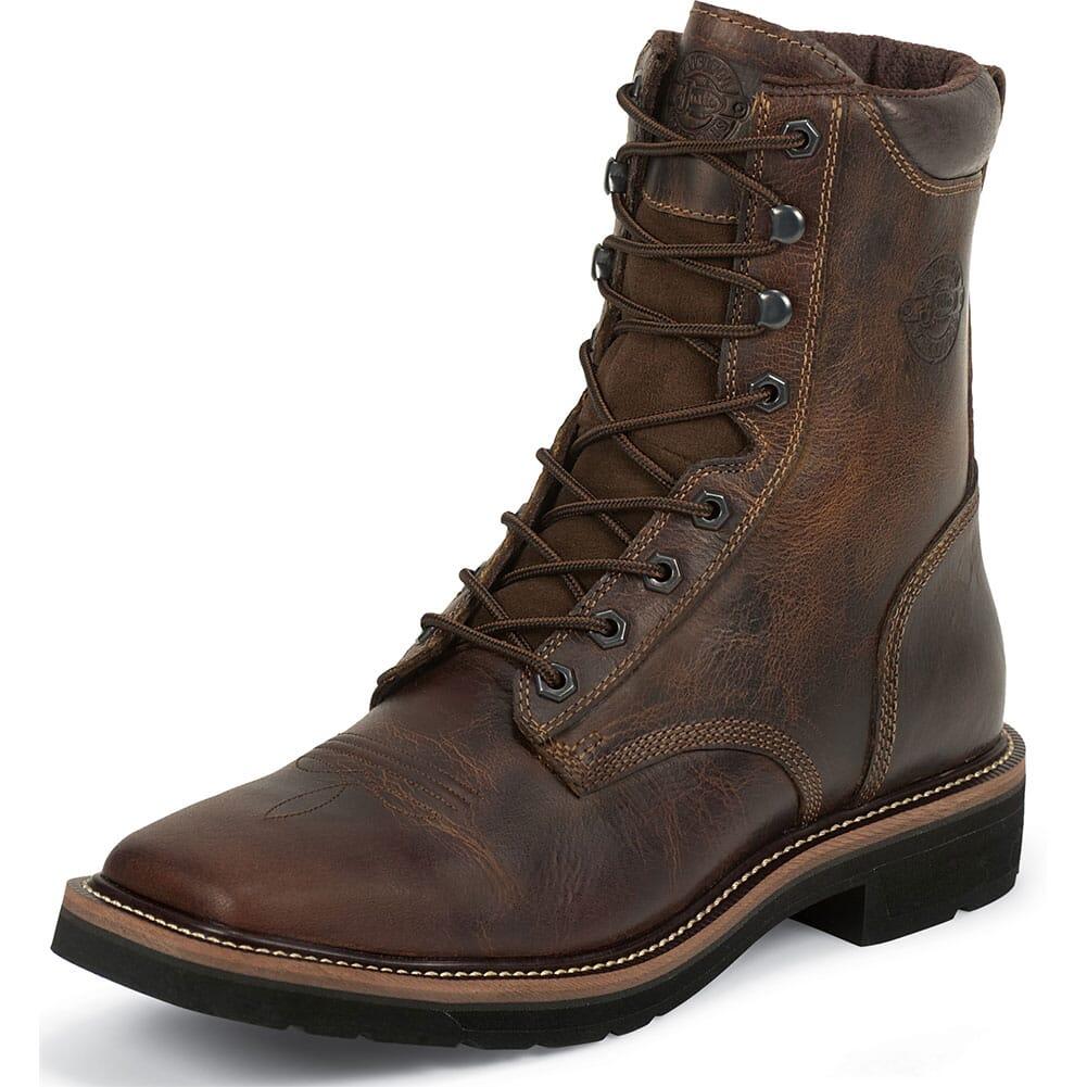 Justin Original Men's Pulley Work Boots - Tan