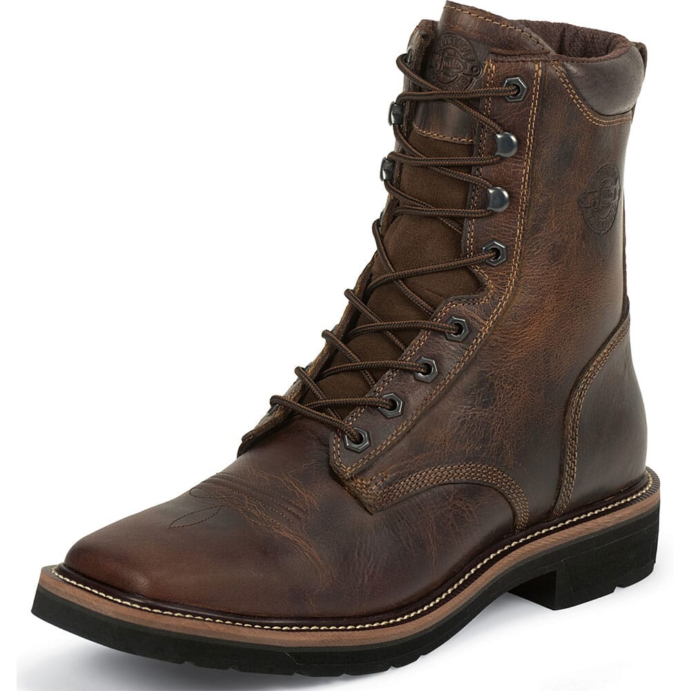 Justin Original Men's 8IN Safety Boots - Tan