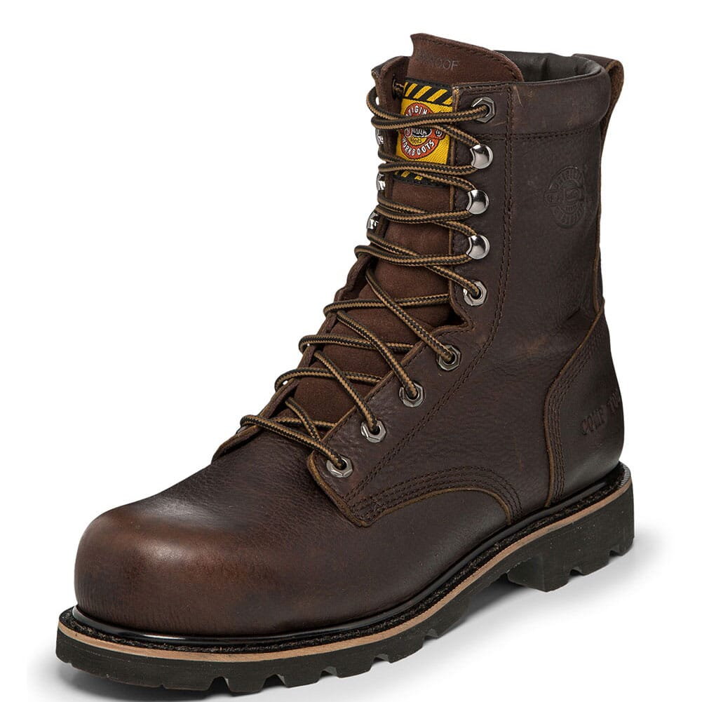 Justin Original Men's Miner Safety Boots - Bark Brown