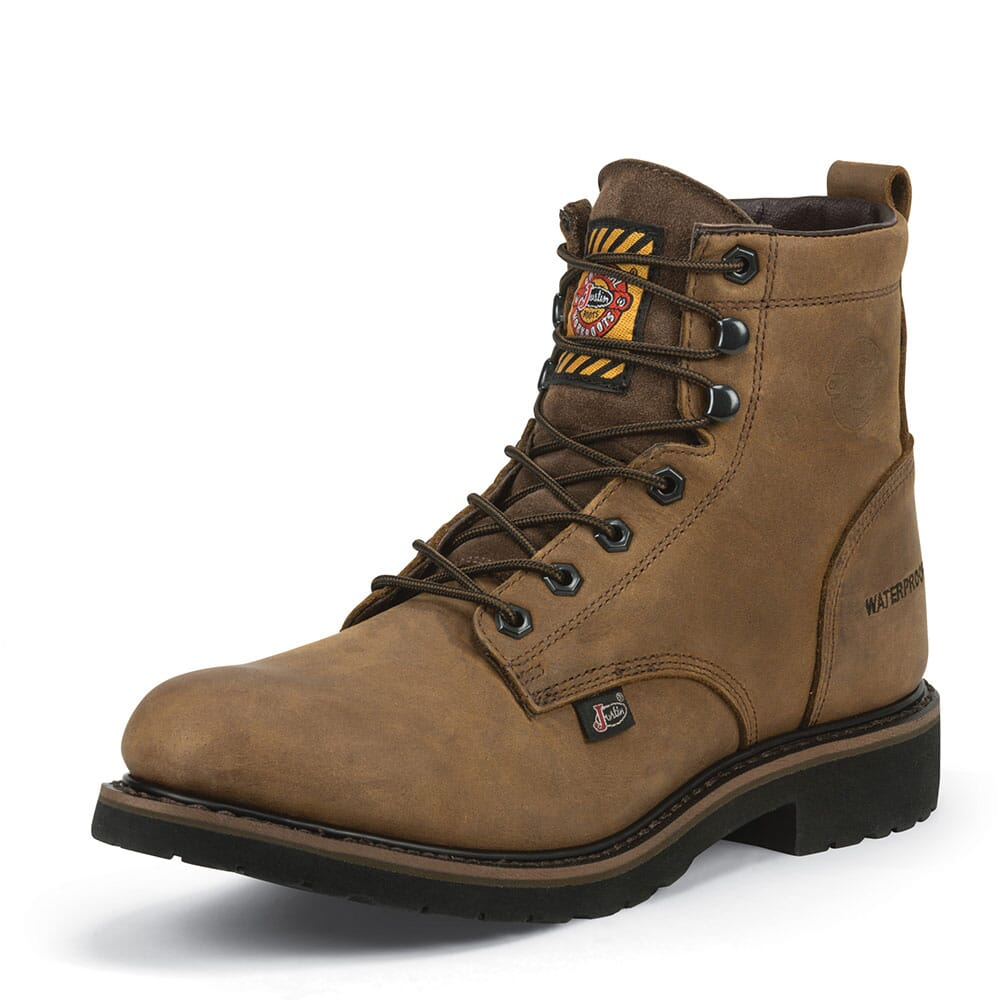 Justin Original Men's Drywall Work Boots - Brown