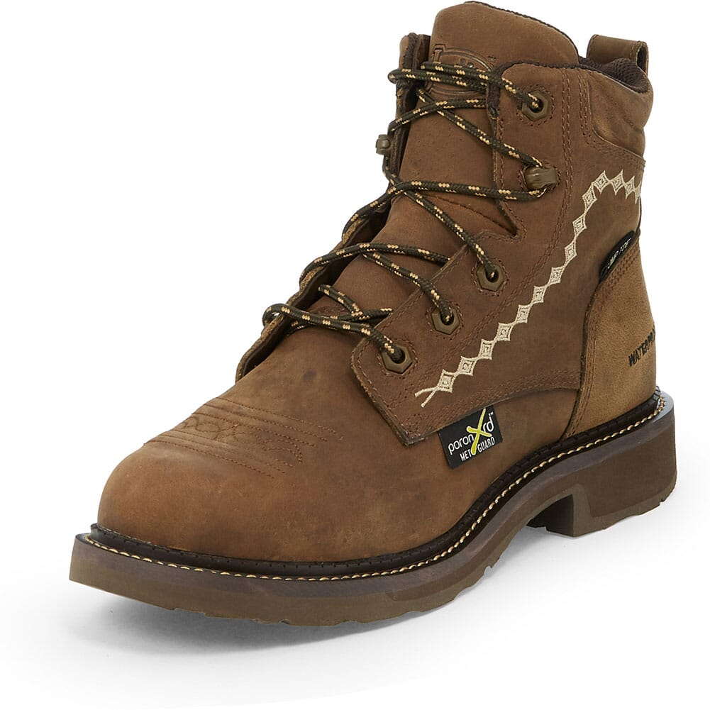 Justin Original Women's Lanie Safety Boots - Wyoming Peanut Buffalo