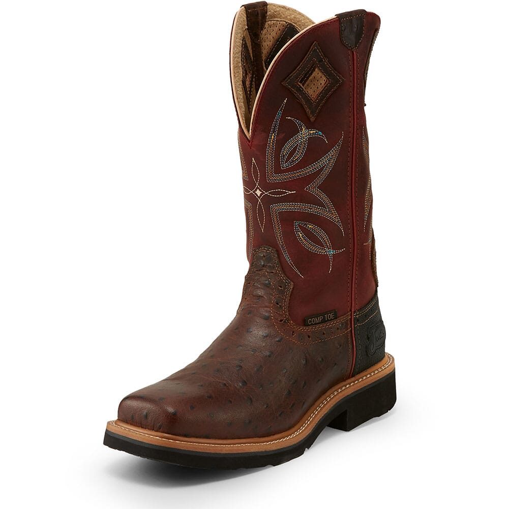 Justin Original Women's Kylee Safety Boots - Burgundy/Rust