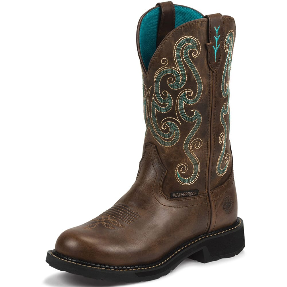 Justin Original Women's Tasha Safety Boots - Chocolate Chip